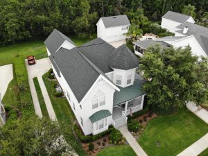 Large home with steep roof which increases roofing costs